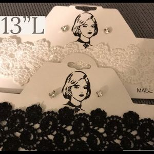 NWT Lace Choker Stone Earnings Set